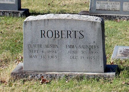 SAUNDERS ROBERTS, EMMA - Orange County, Virginia | EMMA SAUNDERS ROBERTS - Virginia Gravestone Photos