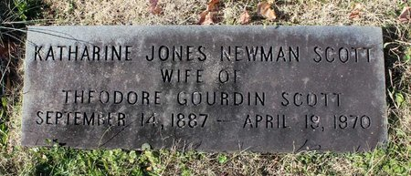 NEWMAN SCOTT, KATHARINE JONES - Orange County, Virginia | KATHARINE JONES NEWMAN SCOTT - Virginia Gravestone Photos