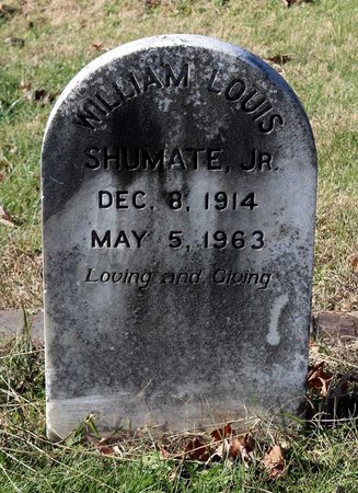 SHUMATE, WILLIAM LOUIS JR. - Orange County, Virginia | WILLIAM LOUIS JR. SHUMATE - Virginia Gravestone Photos