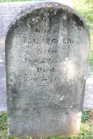 ARCHER, LUCY A. - Powhatan County, Virginia   LUCY A. ARCHER - Virginia Gravestone Photos