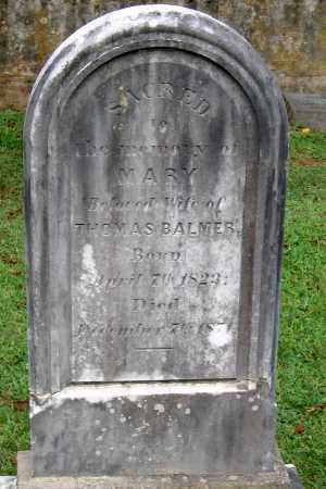 BALMER, MARY - Powhatan County, Virginia | MARY BALMER - Virginia Gravestone Photos