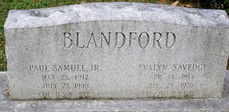 BLANDFORD, EVALYN SAVEDGE - Powhatan County, Virginia | EVALYN SAVEDGE BLANDFORD - Virginia Gravestone Photos