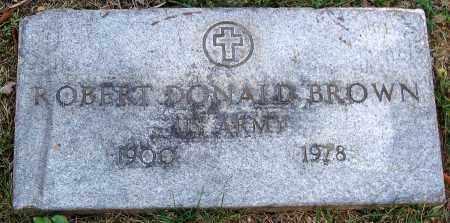 BROWN, ROBERT DONALD - Powhatan County, Virginia | ROBERT DONALD BROWN - Virginia Gravestone Photos