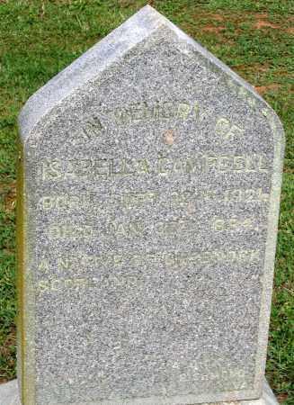 CAMPBELL, ISABELLA - Powhatan County, Virginia | ISABELLA CAMPBELL - Virginia Gravestone Photos