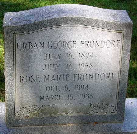 FRONDORF, URBAN GEORGE - Powhatan County, Virginia | URBAN GEORGE FRONDORF - Virginia Gravestone Photos