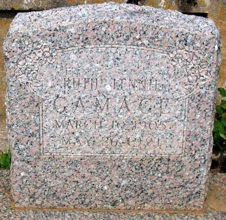 GAMAGE, RUTH LENNIE - Powhatan County, Virginia   RUTH LENNIE GAMAGE - Virginia Gravestone Photos