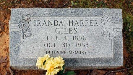 HARPER GILES, IRANDA - Powhatan County, Virginia | IRANDA HARPER GILES - Virginia Gravestone Photos