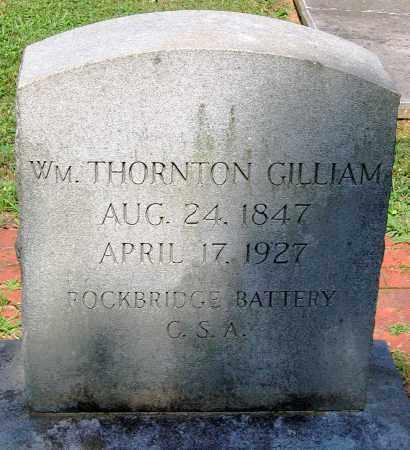 GILLIAM, WILLIAM THORNTON - Powhatan County, Virginia   WILLIAM THORNTON GILLIAM - Virginia Gravestone Photos