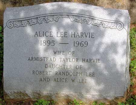 HARVIE, ALICE - Powhatan County, Virginia | ALICE HARVIE - Virginia Gravestone Photos