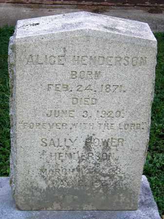 HENDERSON, ALICE - Powhatan County, Virginia | ALICE HENDERSON - Virginia Gravestone Photos