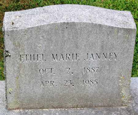 JANNEY, ETHEL MARIE - Powhatan County, Virginia   ETHEL MARIE JANNEY - Virginia Gravestone Photos