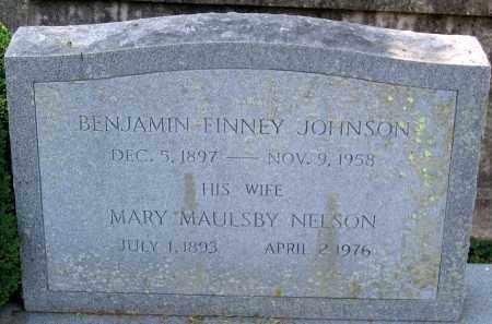 NELSON JOHNSON, MARY MAULSBY - Powhatan County, Virginia | MARY MAULSBY NELSON JOHNSON - Virginia Gravestone Photos