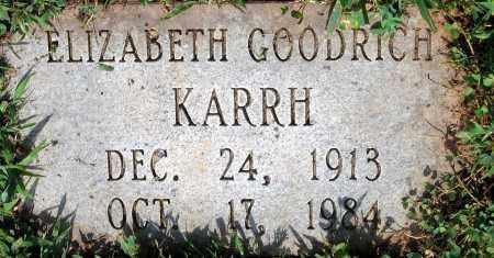KARRH, ELIZABETH GOODRICH - Powhatan County, Virginia | ELIZABETH GOODRICH KARRH - Virginia Gravestone Photos