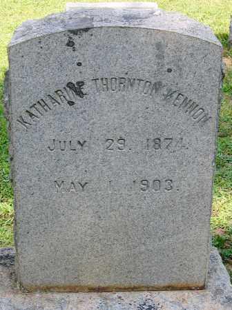 KENNON, KATHARINE THORNTON - Powhatan County, Virginia   KATHARINE THORNTON KENNON - Virginia Gravestone Photos