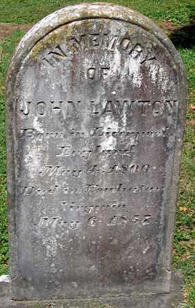 LAWTON, JOHN - Powhatan County, Virginia | JOHN LAWTON - Virginia Gravestone Photos