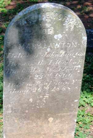 LAWTON, MARY - Powhatan County, Virginia | MARY LAWTON - Virginia Gravestone Photos