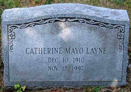 LAYNE, CATHERINE MAYO - Powhatan County, Virginia   CATHERINE MAYO LAYNE - Virginia Gravestone Photos