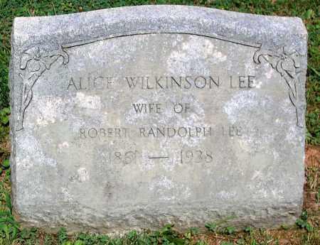 LEE, ALICE WILKINSON - Powhatan County, Virginia | ALICE WILKINSON LEE - Virginia Gravestone Photos