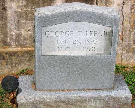 LEE, GEORGE T. JR. - Powhatan County, Virginia   GEORGE T. JR. LEE - Virginia Gravestone Photos