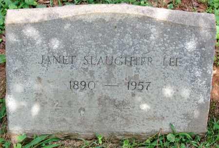 LEE, JANET SLAUGHTER - Powhatan County, Virginia | JANET SLAUGHTER LEE - Virginia Gravestone Photos