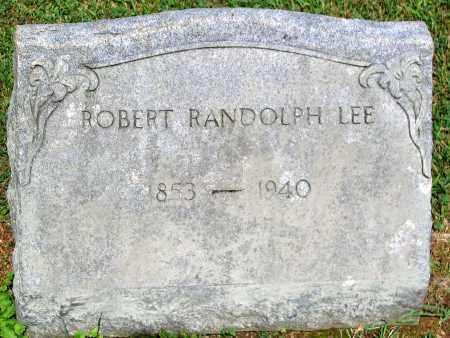 LEE, ROBERT RANDOLPH - Powhatan County, Virginia   ROBERT RANDOLPH LEE - Virginia Gravestone Photos