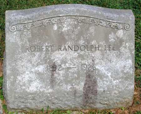 LEE, ROBERT RANDOPH - Powhatan County, Virginia | ROBERT RANDOPH LEE - Virginia Gravestone Photos