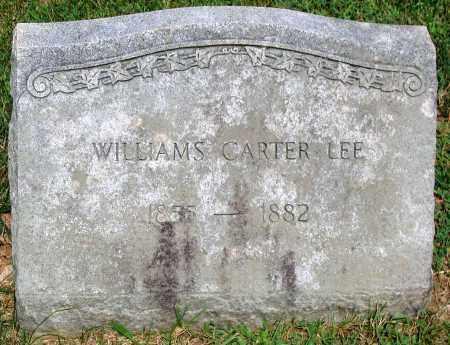 LEE, WILLIAMS CARTER - Powhatan County, Virginia | WILLIAMS CARTER LEE - Virginia Gravestone Photos