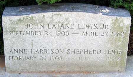 SHEPHERD LEWIS, ANNE HARRISON - Powhatan County, Virginia | ANNE HARRISON SHEPHERD LEWIS - Virginia Gravestone Photos