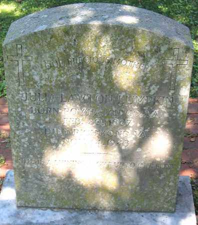 LUMPKIN, JULIA LAWTON - Powhatan County, Virginia   JULIA LAWTON LUMPKIN - Virginia Gravestone Photos