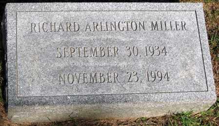 MILLER, RICHARD ARLINGTON - Powhatan County, Virginia | RICHARD ARLINGTON MILLER - Virginia Gravestone Photos