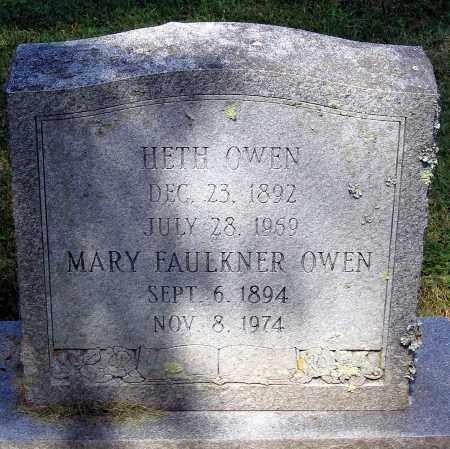 OWEN, MARY FAULKNER - Powhatan County, Virginia | MARY FAULKNER OWEN - Virginia Gravestone Photos