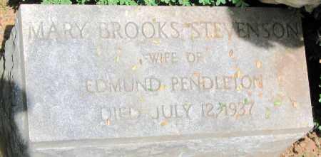 STEVENSON PENDLETON, MARY BROOKS - Powhatan County, Virginia | MARY BROOKS STEVENSON PENDLETON - Virginia Gravestone Photos