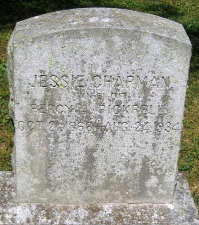 PICKRELL, JESSIE CHAPMAN - Powhatan County, Virginia   JESSIE CHAPMAN PICKRELL - Virginia Gravestone Photos