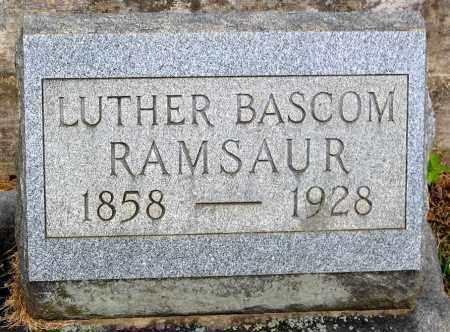 RAMSAUR, LUTHER BASCOM - Powhatan County, Virginia   LUTHER BASCOM RAMSAUR - Virginia Gravestone Photos