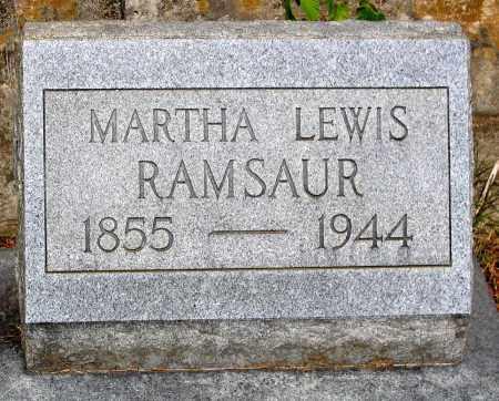 RAMSAUR, MARTHA LEWIS - Powhatan County, Virginia | MARTHA LEWIS RAMSAUR - Virginia Gravestone Photos