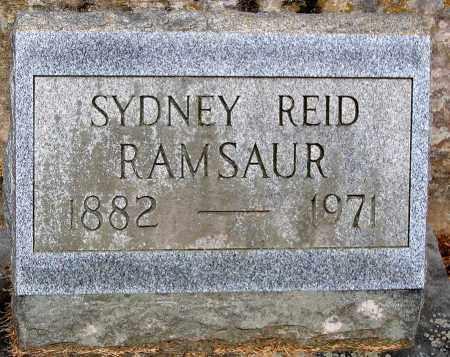 RAMSAUR, SYDNEY REID - Powhatan County, Virginia   SYDNEY REID RAMSAUR - Virginia Gravestone Photos
