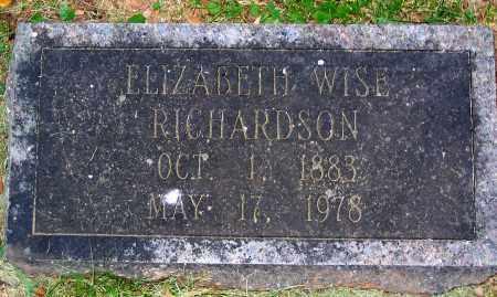 RICHARDSON, ELIZABETH WISE - Powhatan County, Virginia   ELIZABETH WISE RICHARDSON - Virginia Gravestone Photos