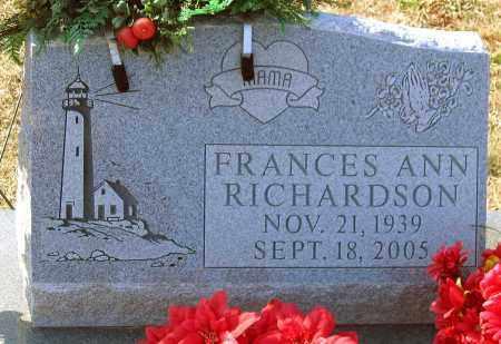 RICHARDSON, FRANCES ANN - Powhatan County, Virginia | FRANCES ANN RICHARDSON - Virginia Gravestone Photos