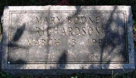 RICHARDSON, MARY BOONE - Powhatan County, Virginia   MARY BOONE RICHARDSON - Virginia Gravestone Photos