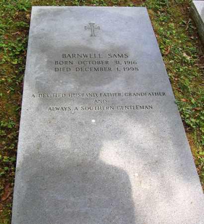 SAMS, BARNWELL - Powhatan County, Virginia   BARNWELL SAMS - Virginia Gravestone Photos