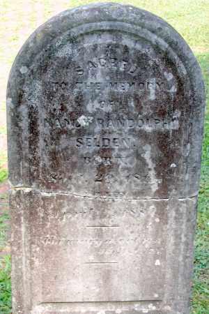 SELDEN, NANCY RANDOLPH - Powhatan County, Virginia   NANCY RANDOLPH SELDEN - Virginia Gravestone Photos