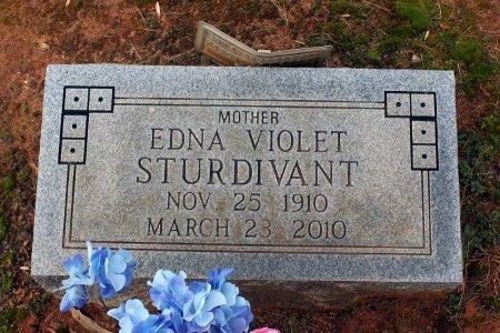 STURDIVANT, EDNA VIOLET - Powhatan County, Virginia   EDNA VIOLET STURDIVANT - Virginia Gravestone Photos