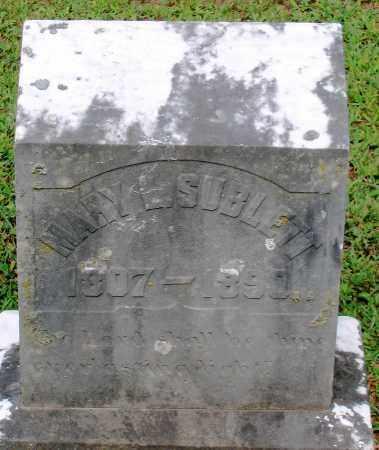 SUBLETT, MARY - Powhatan County, Virginia | MARY SUBLETT - Virginia Gravestone Photos