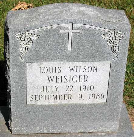 WEISIGER, LOUIS WILSON - Powhatan County, Virginia | LOUIS WILSON WEISIGER - Virginia Gravestone Photos
