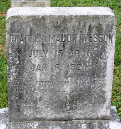 WESSON, CHARLES MACON - Powhatan County, Virginia   CHARLES MACON WESSON - Virginia Gravestone Photos