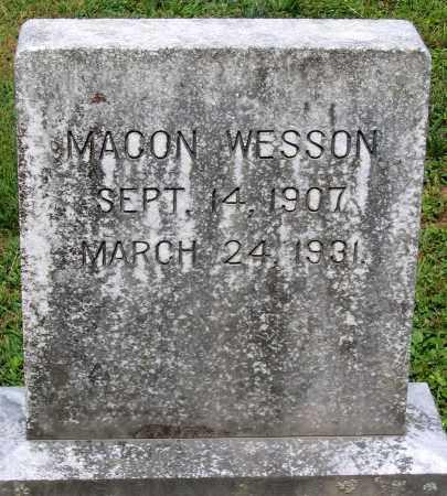 WESSON, MACON - Powhatan County, Virginia   MACON WESSON - Virginia Gravestone Photos