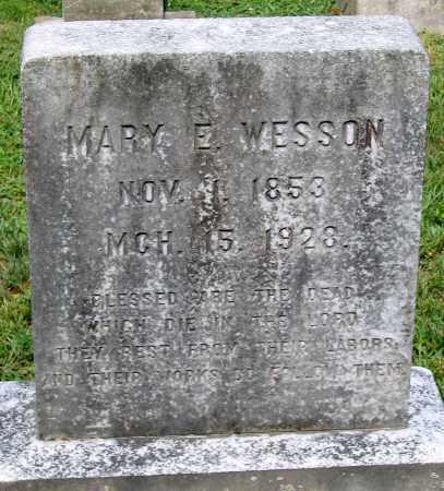 WESSON, MARY E. - Powhatan County, Virginia | MARY E. WESSON - Virginia Gravestone Photos