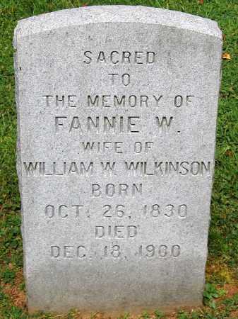 WILKINSON, FANNIE W. - Powhatan County, Virginia   FANNIE W. WILKINSON - Virginia Gravestone Photos