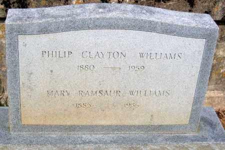 WILLIAMS, MARY RAMSAUR - Powhatan County, Virginia | MARY RAMSAUR WILLIAMS - Virginia Gravestone Photos