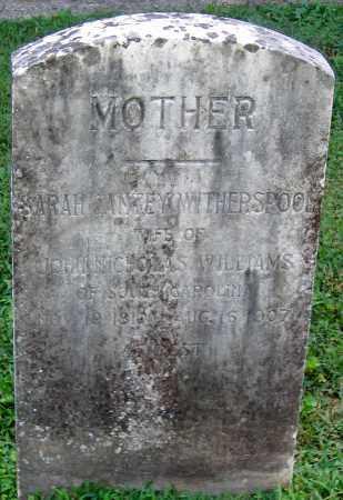 WITHERSPOON WILLIAMS, SARAH GANTEY - Powhatan County, Virginia | SARAH GANTEY WITHERSPOON WILLIAMS - Virginia Gravestone Photos